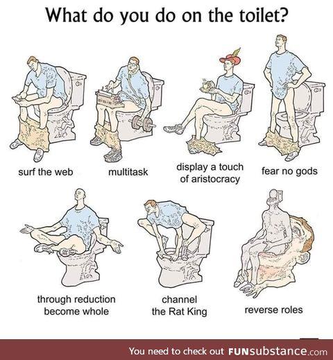 The many toilet methods