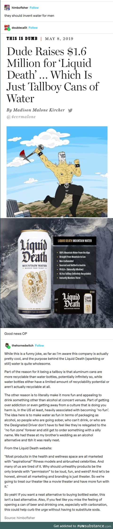We drink what we like, and we like death!