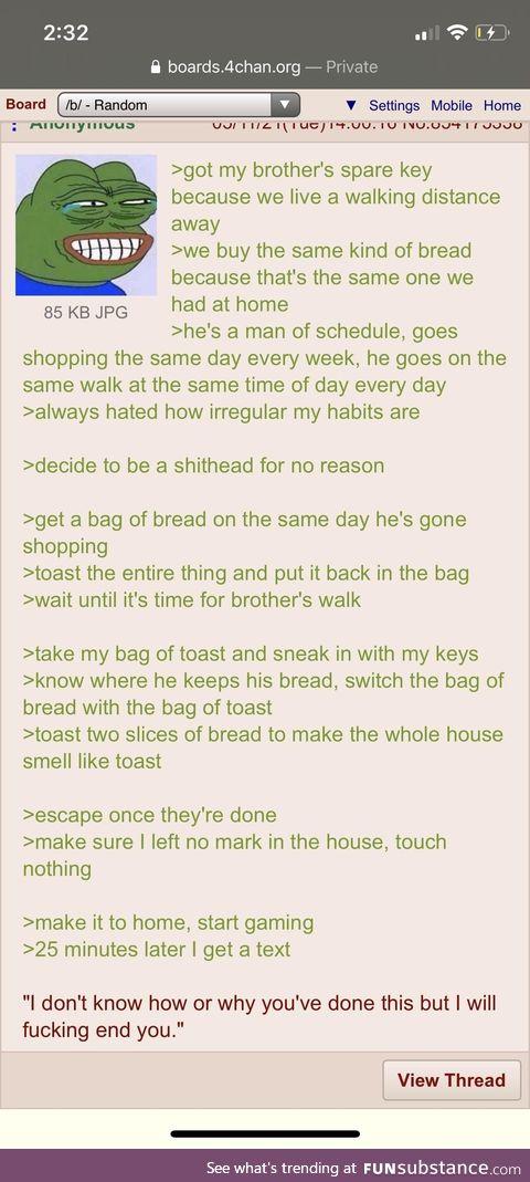 Anon makes toasts