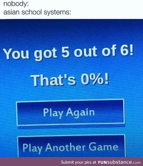 Congratulations! You're a failure!
