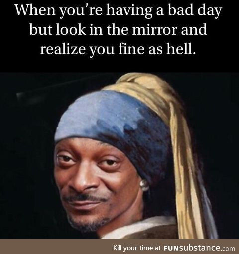 Look at your fine self, on occasion