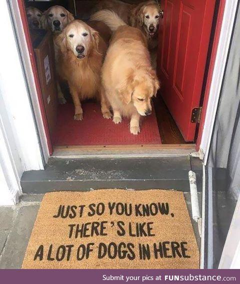 An honest doormat
