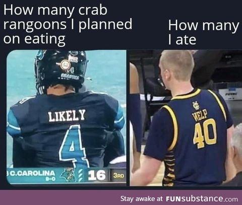 Crab rangoons you taste so good