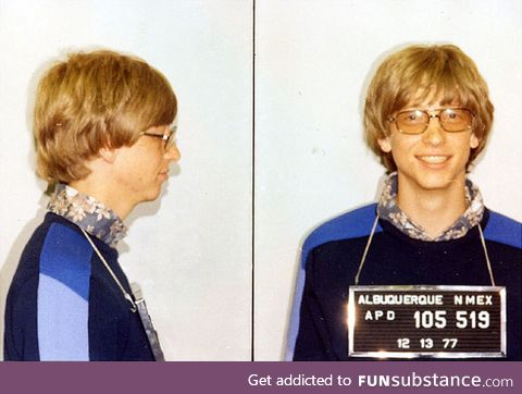 Bill Gates arrested in 1977 after attempting to implant microchips in his friends