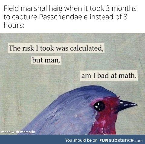 Math is hard :(