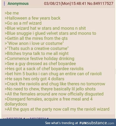 All hail the ravioli wizard
