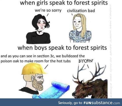 That'll teach you nature