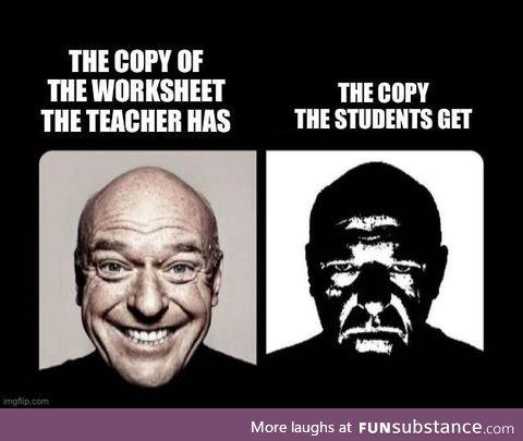 Ahh, failing education budgets