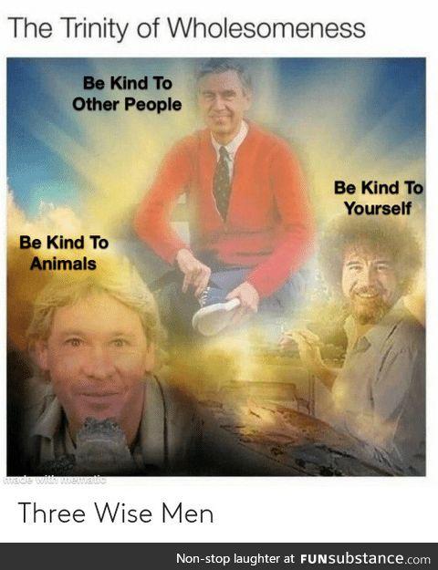 The trinity of wholesomeness