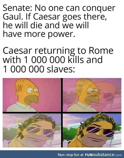 Roma invicta indeed