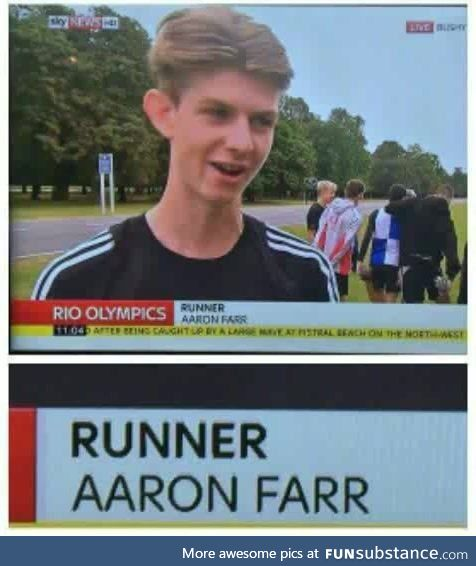 Sometimes your name really does dictate your life choices
