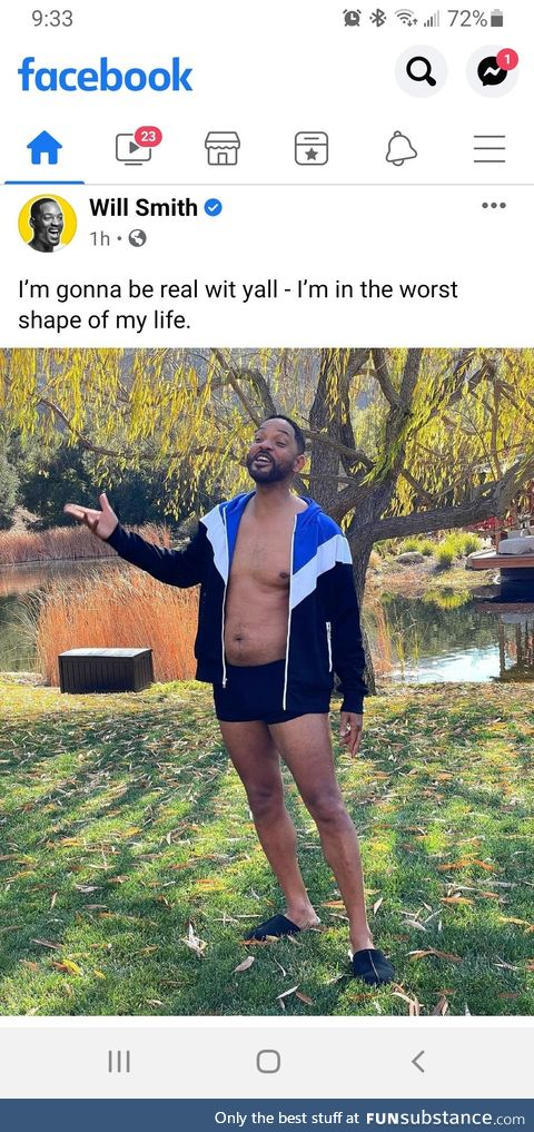The great Will Smith still keeping it real with us