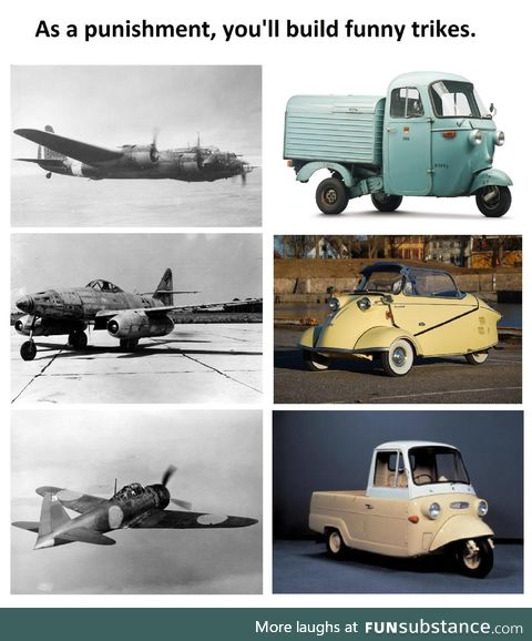 Joke's on the Alllies, Piaggio Ape is still produced today