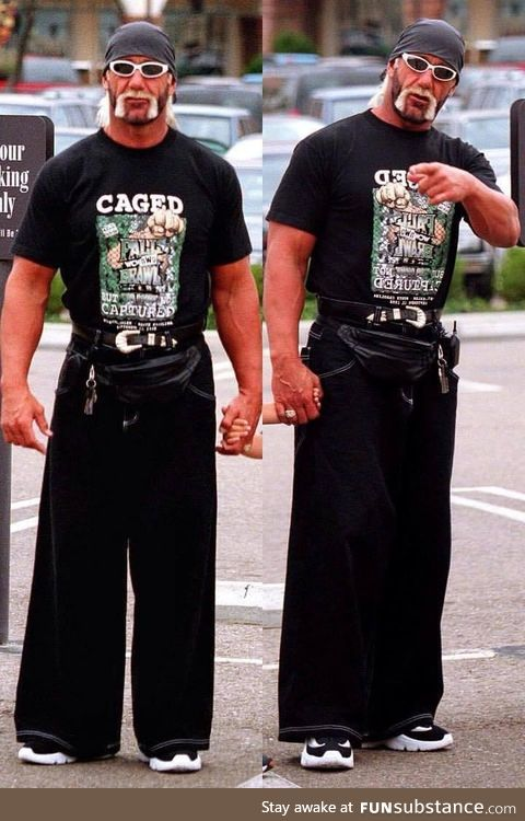 JNCO jeans and fanny pack, brother. Circa '97