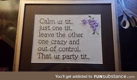 Calm that tit