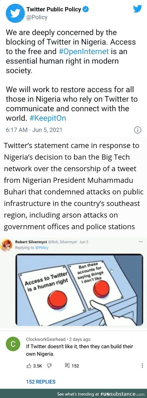 Twitter should just build their own Nigeria