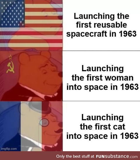 And thus, the French won the space race; The end