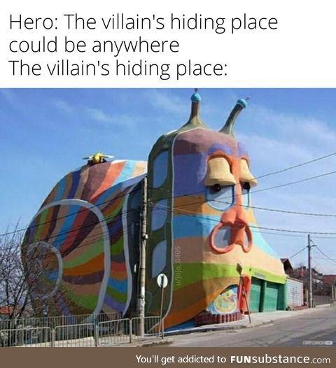 Crazy snail house
