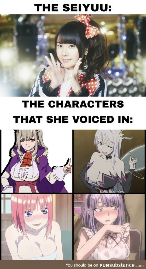 She loves voicing characters with Big Tiddies