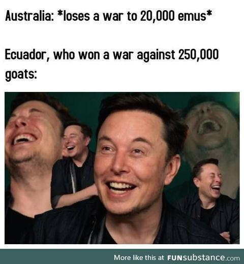 C'mon, Australia! You can do better than that!
