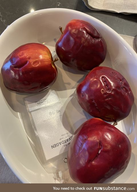 The concerning amount of bite marks on IKEA display apples