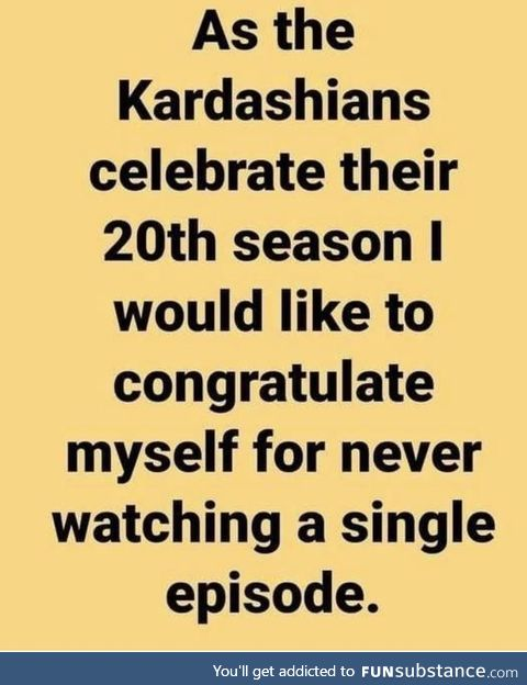 Can't keep up with the Kardashians