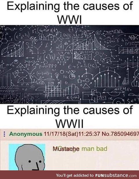 WW1 vs WW2 causes