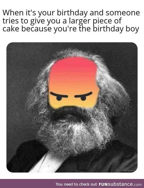 Happy birthday to Karl Marx!