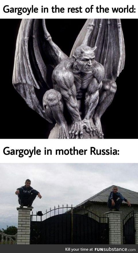Don't ever trust a Russian gargoyle