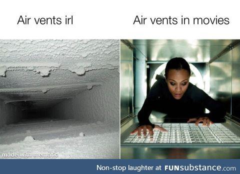 Them air vents be so clean