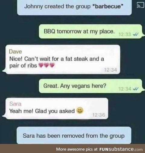 Sara got dunked on