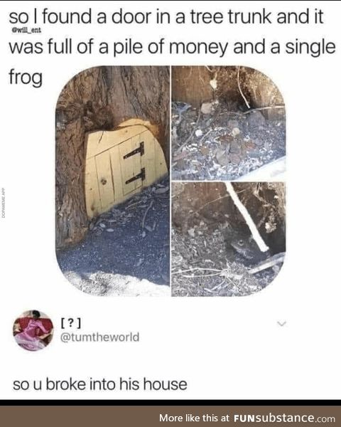 Frog robbery
