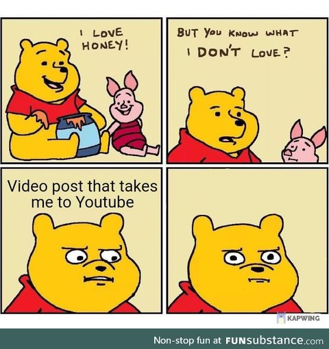 Pooh is angry