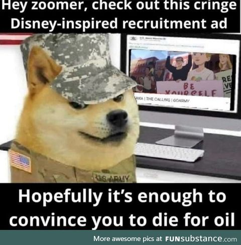 The army is just fortnite irl