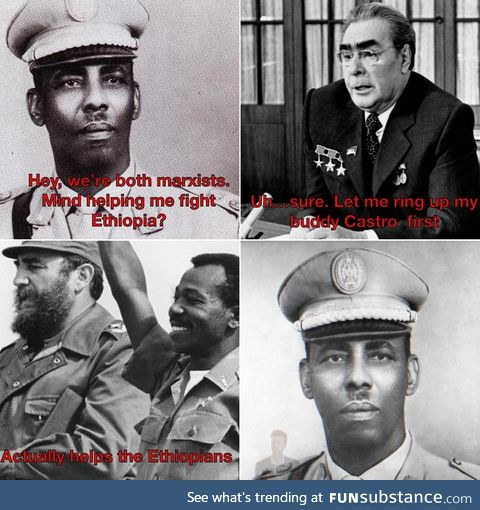 Siad Barre says to ignore the Hitler stach