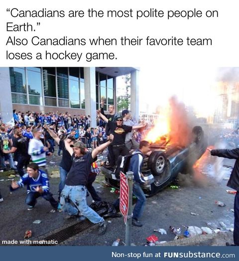 Oh the good ole hockey game is the best thing you can name and the best thing you can