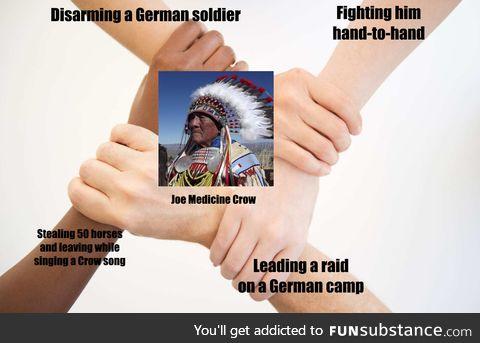 Badass at war, badass at peace