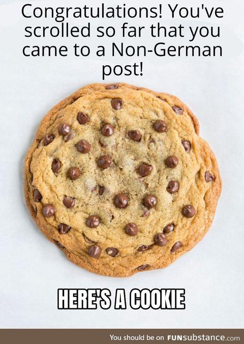Enjoy your cookie!