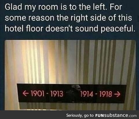 Hmmm...What happened b/w 1914 & 1918
