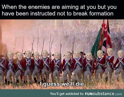 Man... Being in the front line sucks