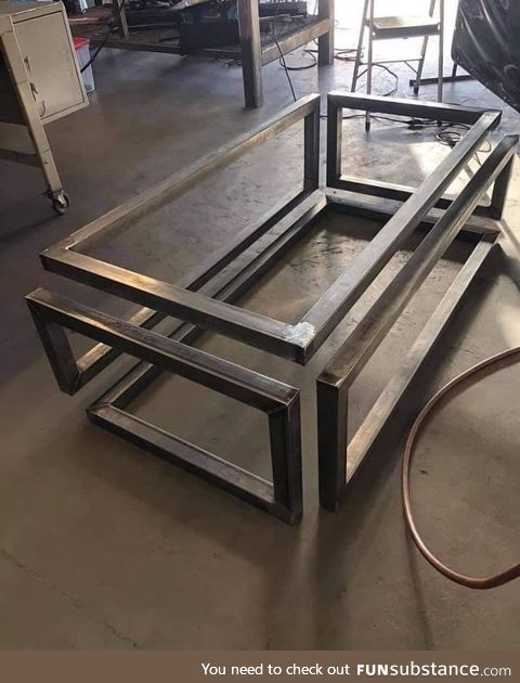 An infinity coffee table