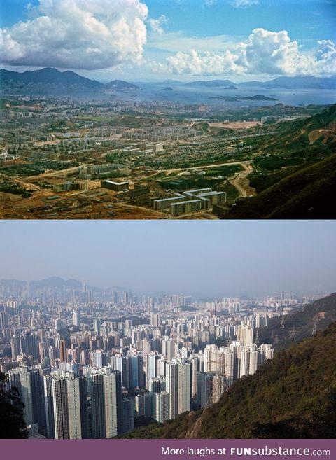 Hong Kong's Kowloon peninsula 1964 - 2016