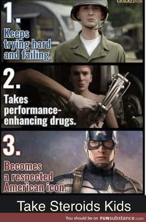 Be smart take steroids