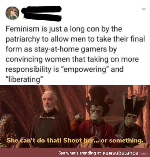 Men, we're in trouble