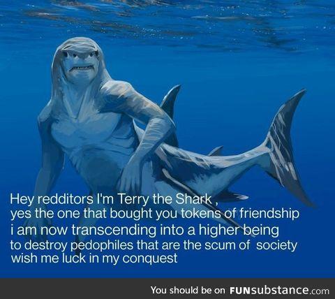 Best of luck Terry & fu*k p*dophilia