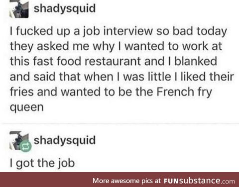 Every interview should go like this