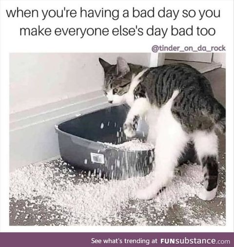 Taking bad days out on everyone else
