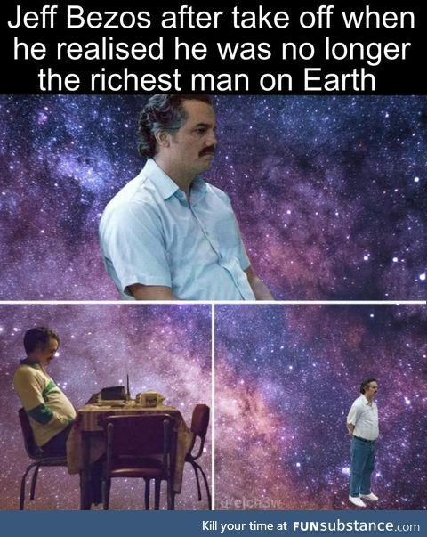 He lost his title once he rocket left Earth