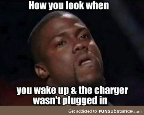 When your phone didn't charge overnight