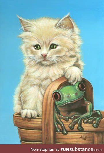 Froggo Fun #527 - Froggy Bear and Mew-Mew Claim Their Latest Pic-a-nic Basket